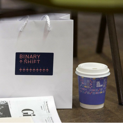 Binary Shift show bag and coffee